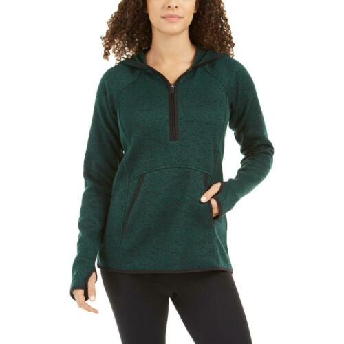 Ideology Womens Marled 1//4 Zip Hoodie Hooded Sweater Top BHFO 9612