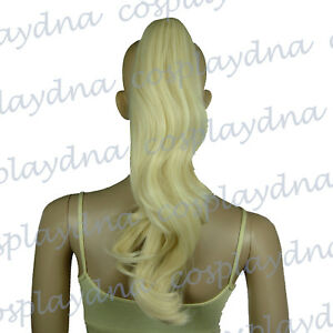 16-inch-Heat-Stylable-Light-Golden-Blonde-Clipon-Curly-Cosplay-Ponytail-4LGB