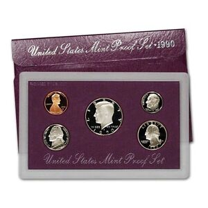 1990-S-Proof-Set-United-States-US-Mint-Original-Government-Packaging-Box-amp-COA