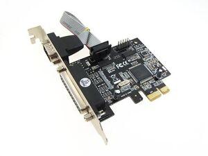 PCI-E-PCI-Express-Parallel-LPT-Serial-Port-Card-DB25-DB9-RS232-mach3-mach2