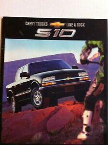 2002 Chevrolet S 10 S10 Pickup Truck 34 Page Sales Brochure Xtreme Zr2 Ebay