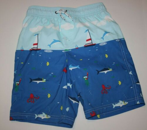 New Carter/'s Swim Trunks Sailboat Ocean Theme Swimsuit NWT 4 5 8 Boys