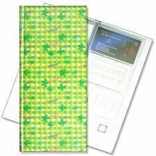Business Card File Book Lucky Green Four Leaf Clover 3D Lenticular #R-139-BF128#