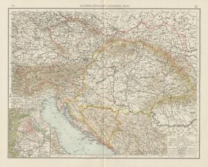 Austria-Hungary-Czechia-Croatia-Bosnia-Serbia-Vienna-environs-TIMES-1900-map