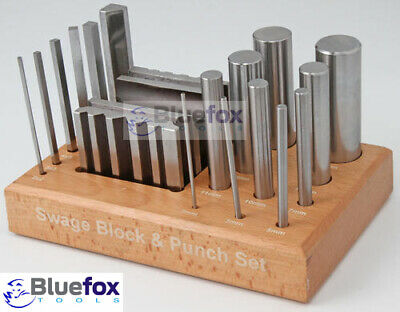 Biseau Bloc Punch Set 16 Poinçon en acier de Dapping Forming CRAFT TOOLS