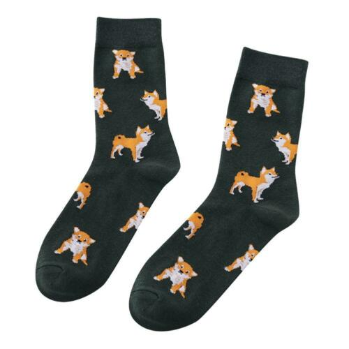 1 Pair Women Lovely Puppy Dog Animals Combed Cotton Short Sock for Girls