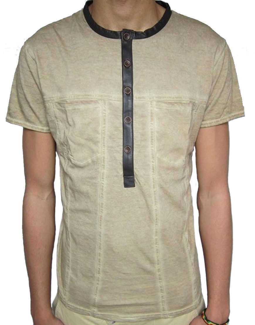 Pearly King Herren Zevon T-Shirt Beige (Pkts036)