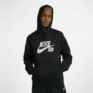 Details about Mens Nike NIKE SB Icon Pullover Skateboarding Hoodie AQ9565 011 Black NEW Sz XL