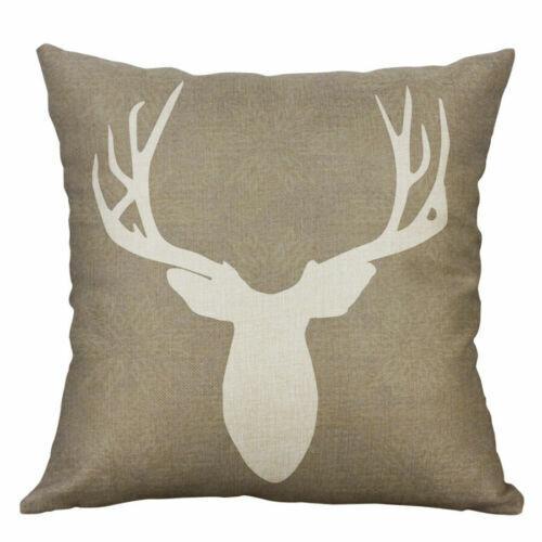 """Throw Pillow Colorful Cotton Sofa Decor Linen 18/"""" Home Case Deer Cushion Cover"""
