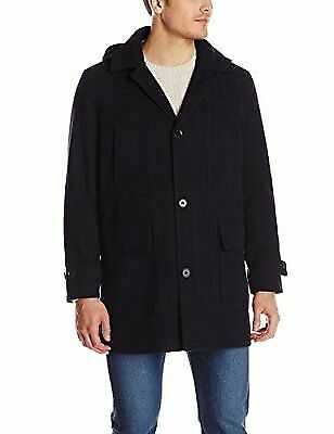 London Fog Men's Litchfield Stadium Coat, Navy, XX-Large
