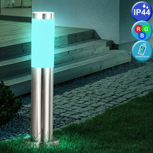 DEL Extérieur Lampe De Position Debout Lampe RGB Télécommande Jardin éclairage Variateur