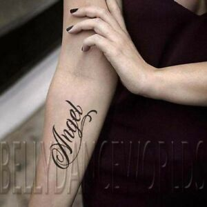 Details about SET of 2 inspirational powerful one word Temporary tattoo  quote tattoo lettering