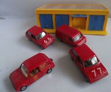 CORGI JUNIORS TOYS No.2001 MULTI GARAGE WITH FOUR ROYAL MAIL DATAPOST CARS VAN