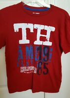Tommy Hilfiger boys short sleeve Red shirt size M 12-14 cotton