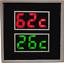Calibre Sensor SM013 Monitor Alarma de temperatura de escape doble Marina