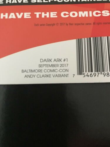 DARK ARK #1 BALTIMORE COMIC CON VARIANT SOLD OUT ISSUE! SEE MY OTHERS!!