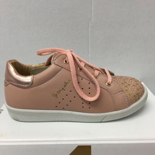 New Season BabyBotte Kuizy Girl Casual Sneaker In Nude with Rose Gold Detail