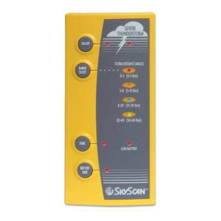 SKYSCAN P5-3 Lightning Detector,3 in W,1 lb.