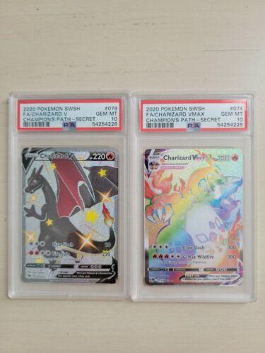 Pokemon Champions Path Shiny Charizard V + Charizard VMAX PSA 10