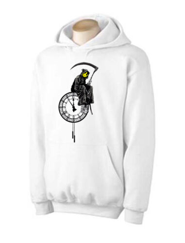 Sizes Small to XXL Graffiti Street Art T-Shirt BANKSY GRIM REAPER HOODIE