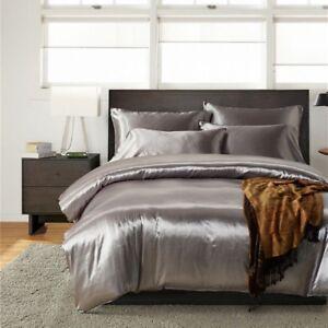 Seda-De-Imitacion-Saten-Funda-Nordica-con-fundas-de-almohada-Juego-de-cama-tamano-americano-moderno