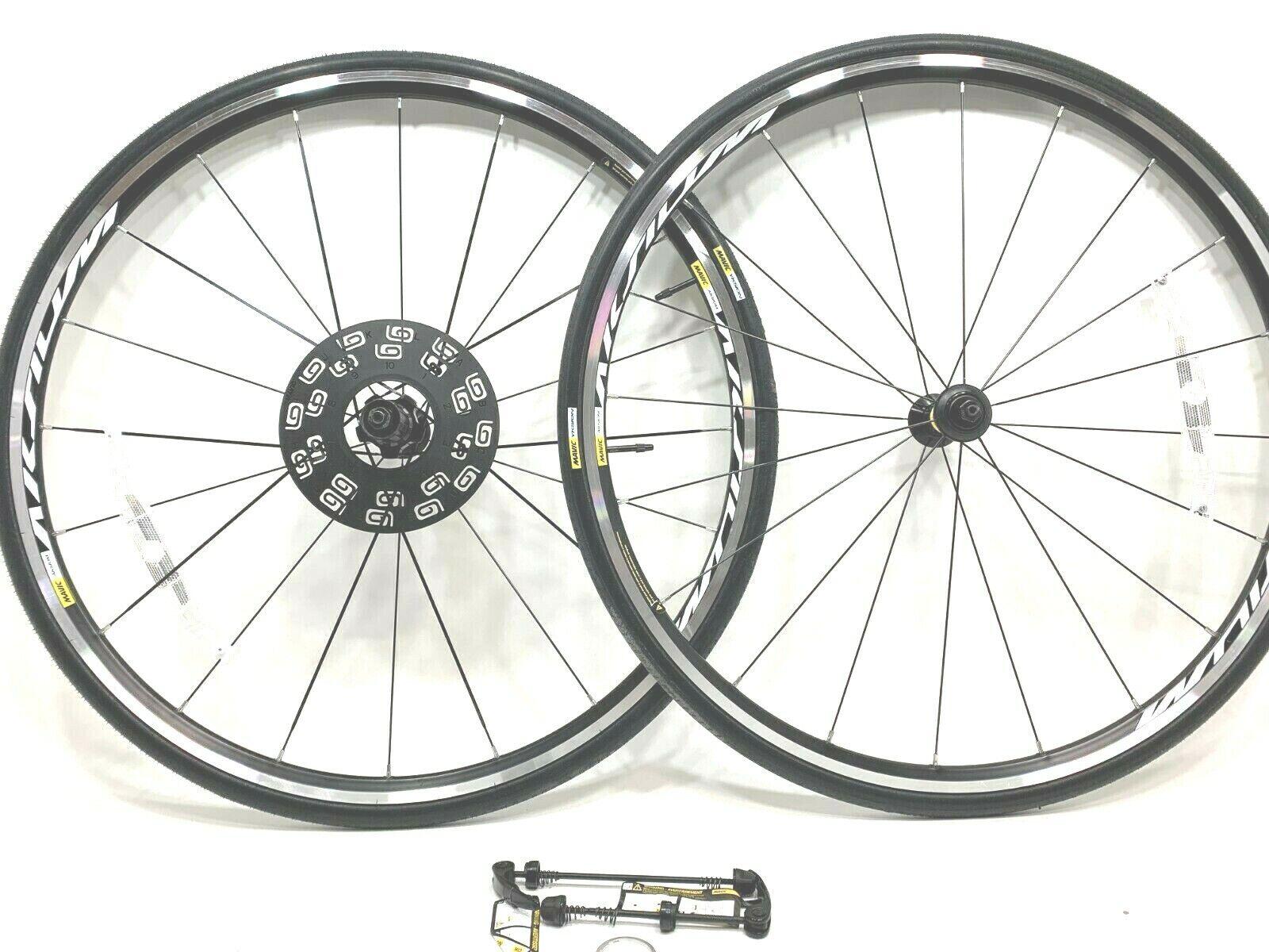 Mavic Aksium Rim Brake Road Bike Wheelset Yksion 25C Tires 700C 10 11 Speed NEW