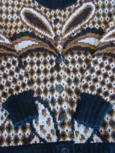 M Knit Brun hvid Coat Størrelse jakke Ladies sort PnfFnv
