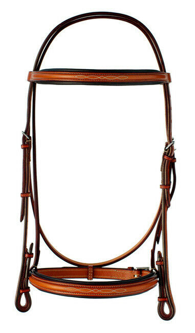 NEW Edgewood Fancy Stitched Padded Bridle- 3 4 - Horse- Newmarket