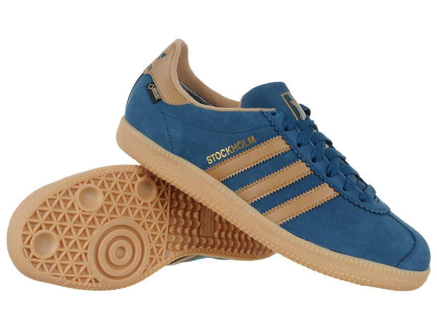 Zapatos De Cuero Unisex Adidas Originales Estocolmo Gore-Tex Unisex Cuero Corte Bajo Superior Entrenadores 1c8c27