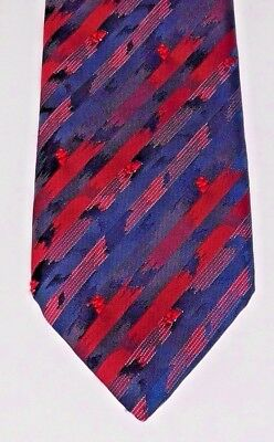 Snazzy striped Tootal tie multi-coloured British made paint splash red modern