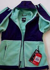 NEW $199 THE NORTH FACE WOMENS' DENALI HOODIE FLEECE GREEN/PURPLE JACKET size S