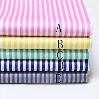 50cm*160CM Stripe 100%cotton fabric Quilting Quilt Clothes Bedding Sewing DIY