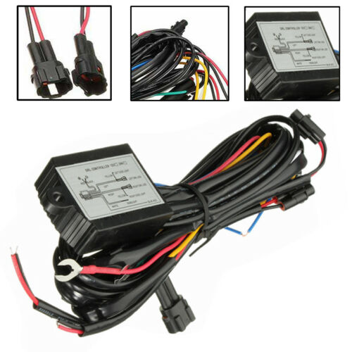 DRL Daytime Running Light Auto Dimmer Dimming Relay Controller Switch Harness AA