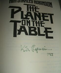 Author-signed-1986-First-Edition-The-Planet-on-the-Table-by-Kim-Stanley-Robinson