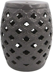 Details About Ravenna Home Moroccan Pattern Ceramic Garden Stool Or Side Table 16 Inch
