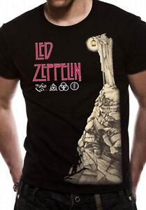 Led-Zeppelin-Hermit-Jimmy-Page-Robert-Plant-Rock-Licensed-Tee-T-Shirt-Men