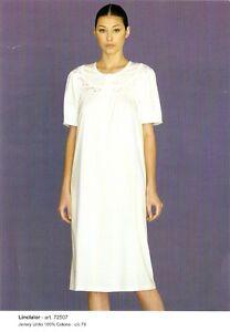 Camicia-Notte-Donna-Classica-Mezza-Manica-Cotone-Linclalor-TG-46-48-50-52-54