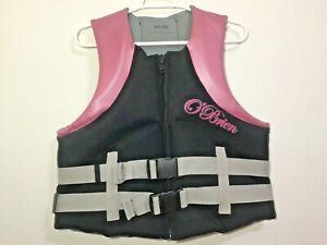 Obrien-Ladies-Large-Ski-Vest-Black-Pink-Size-14-16-40-034-44-034-Chest-USCG-Approved