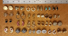Mixed Lot 24 Pair of Clip on Earrings Veronese AKN KJL Kirks Folly Lisner Mexico