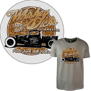 Hotrod T-Shirt Rockabilly Oldschool Classic Vintage Voiture US 40s 50s Garage