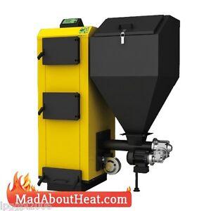 PBI 27kW wood pellet boiler, log burner, peat, coal, slack ...