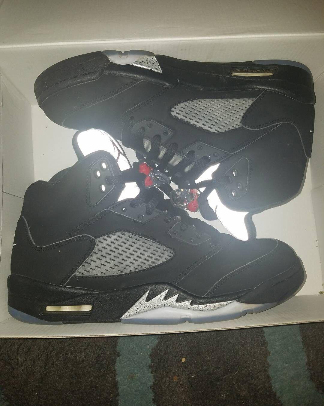 Air Jordan 5 Black/Mettallic Size 10