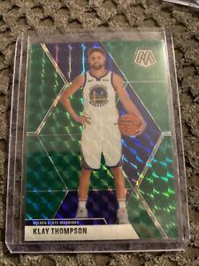 2019-20-Panini-Prizm-Mosaic-Klay-Thompson-Green-Mosaic-SP-80-Warriors