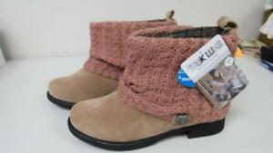 MUK-LUKS-Women-039-s-Moccasin-Cable-Knit-Tan-Paattrice-Sweater-Cuff-Boot-Size-9-NEW