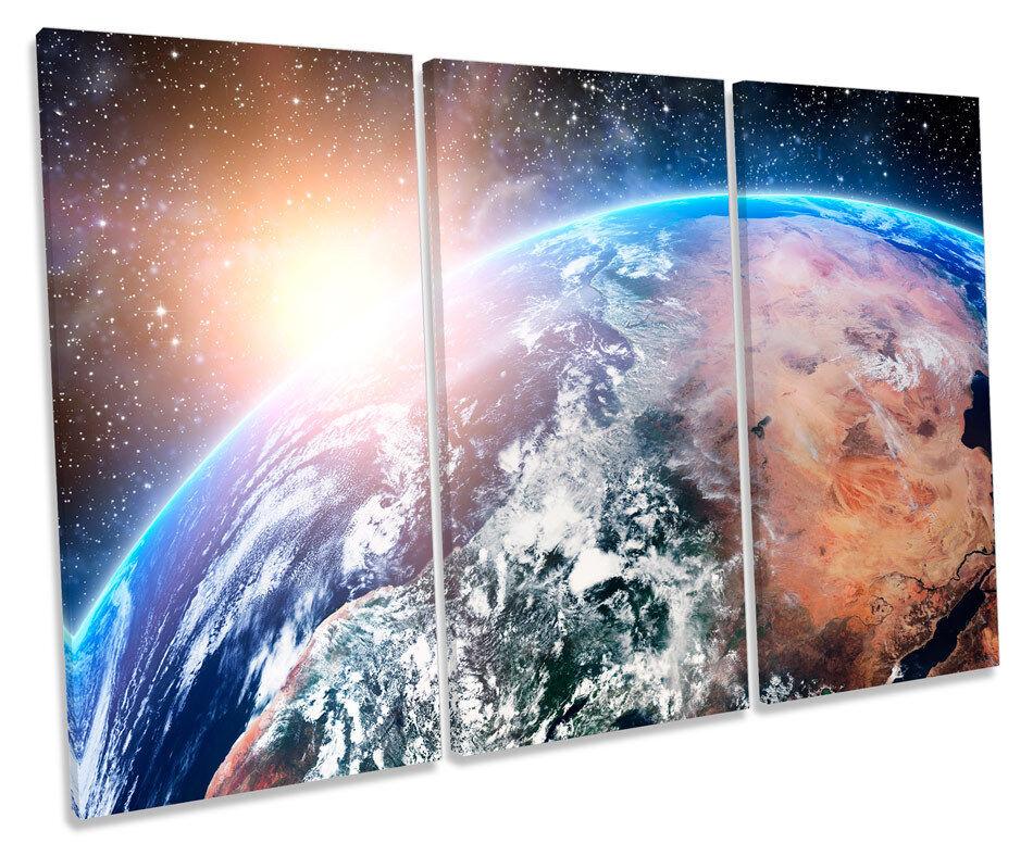 Planet Earth SPAZIO TREBLE TREBLE TREBLE TELA Wall Art Box incorniciato stampa a4df4e