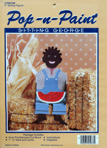 "POP N PAINT SITTING GEORGE 5/"" SITTING FIGURE NEW SEALED KIT PICANINNY DOLL"
