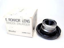 MINOLTA (E.Rokkor) 50mm f4.5 Enlarging Lens - Excellent and Boxed