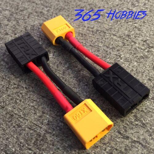2 QTY- Male XT60 to Female TRX Traxxas Connector Adapter Zippy Revo Slash LiPo
