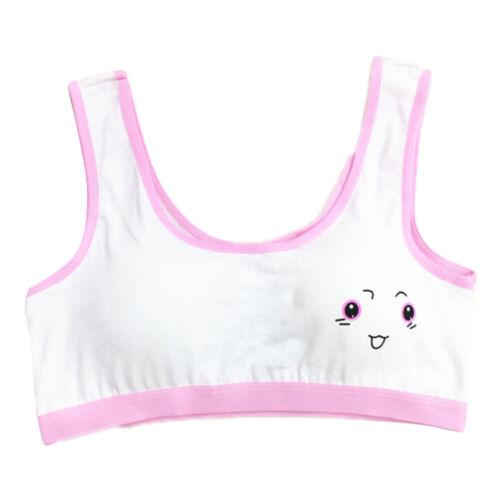Cute Girls Cotton Underwear Bra Vest Children Sport Undies