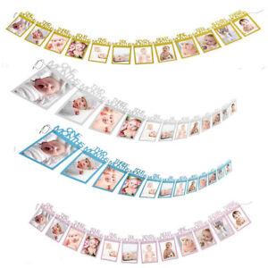 12-Monate-1-Geburtstag-Bunting-Girlande-Foto-Banner-Baby-Geburtstag-Party-Decor